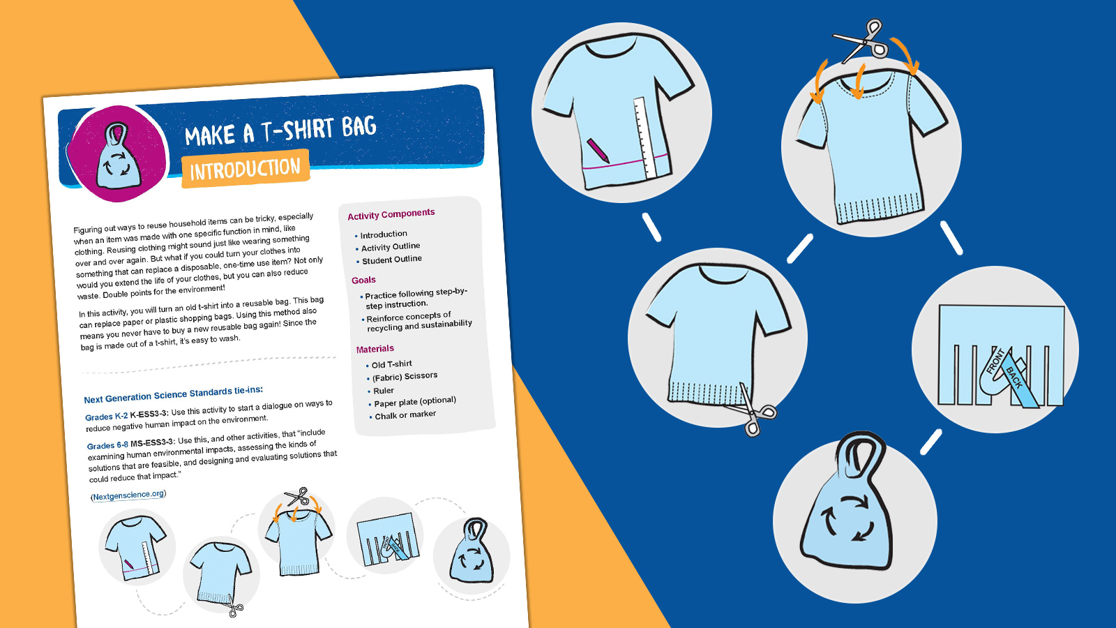 How to Make a Tote Bag From a T-Shirt